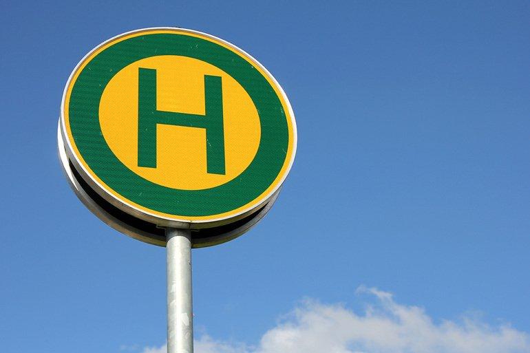 Bus-Haltestelle ÖPNV