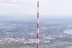 Einer der Sendemasten, die den 5G-Broadcast-Betrieb in Wien testen sollen.