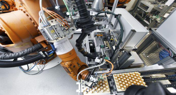 BMW Vormontage Batteriezellen