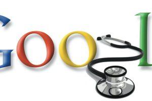 Google Logo und Stethoskop