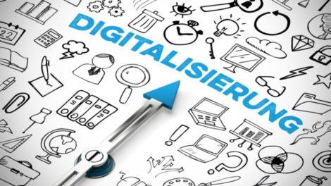 Digitalisierung Pfeil Grafik