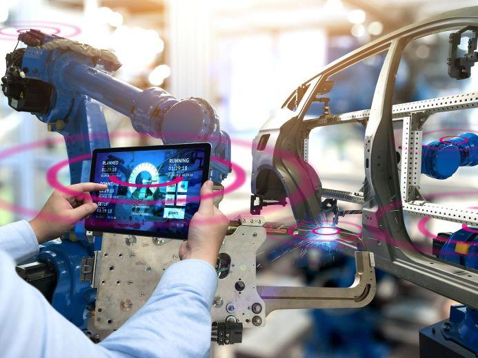 Campus-Netz Tablet Automobilproduktion