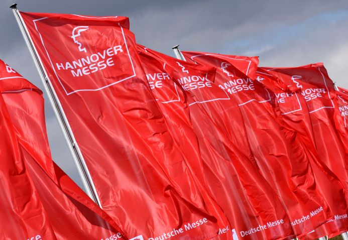 Fahnen Hannover Messe