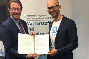 Andreas Scheuer Nikolas Iwan H2 Brennstoffzelle Absichtserklärung