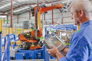 Künstliche Intelligenz Augmented reality Werkhalle