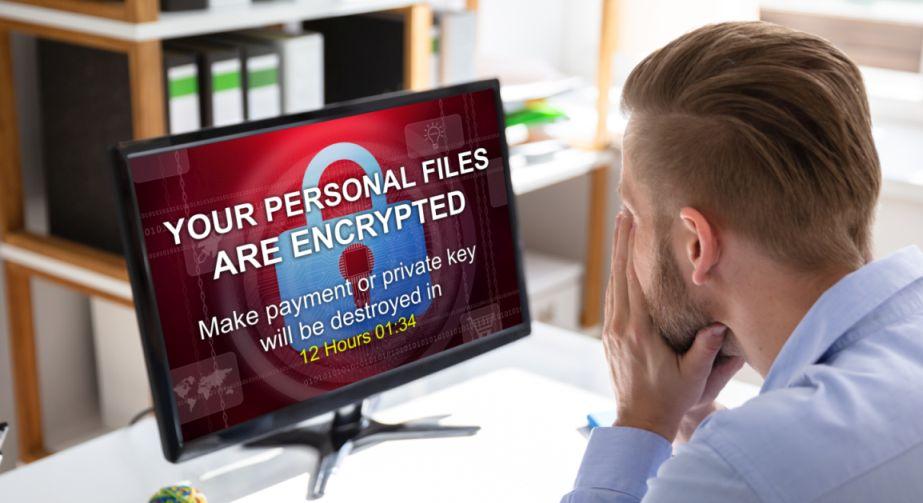 Ransomware-angriff Bildschirm