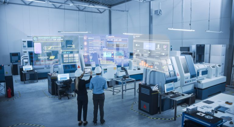 Ingenieure in Smart Factory