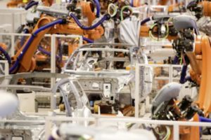 Volkswagen-Werk Automatisierung Roboter