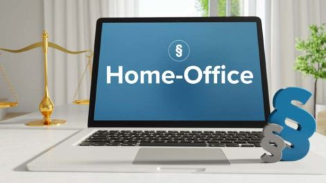 Computer im Homeoffice. Gesetzesentwurf von Heil stößt nicht nur auf Gegenlieben. Bild: MQ-Illustrations via Adobe Stock