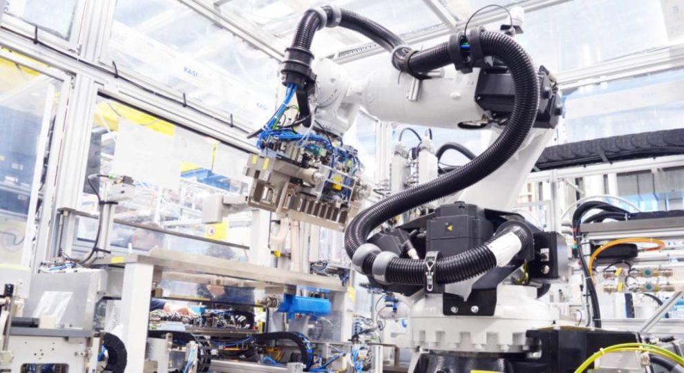 Roboter Batterie-Produktion Bosch