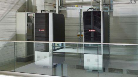 SOFC-Pilotanlagen im Betrieb an einem Bosch-Standort