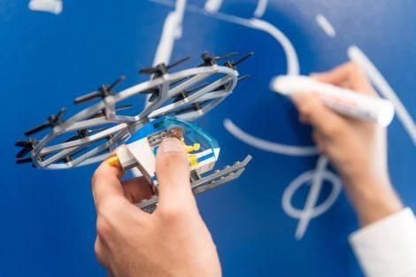 Modell eines Flugtaxis
