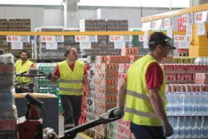 Lager der Coca Cola Hellenic Bottling Company