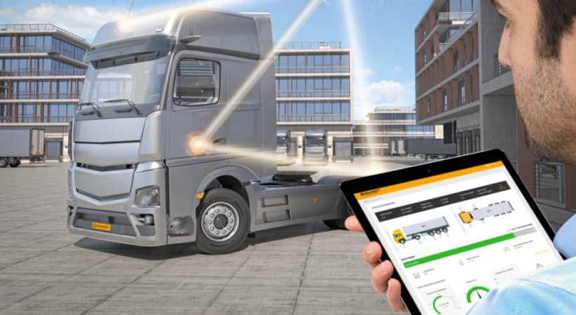Das On-Board-Wiegesystem liefert Daten zum Gewicht von Nutzfahrzeugen bereits vor Fahrtantritt. Die Daten können via App abgerufen werden. Bild: Continental