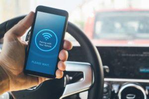 Smartphone vor dem Pairing im Auto