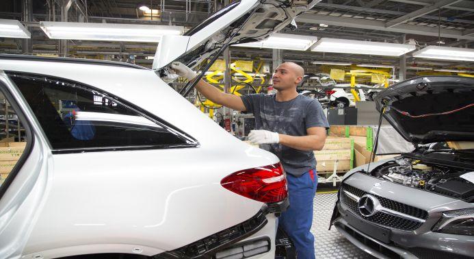 Daimler Endmontage bei Valmet Automotive, Uusikaupunki /Finnland