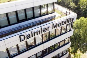 Daimler Mobility Gebäude. Blockchain-Software ab sofort von Bloxmove lizenziert.