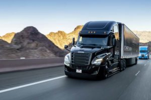 Der Freightliner Cascadia, der seine Weltpremiere im Januar 2019 feierte