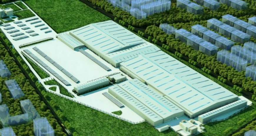 So soll das Lkw-Werk in China aussehen, das das Joint Venture von Daimler und Foton bauen will.