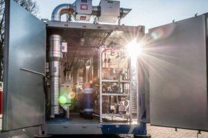 ElElktrolyseanlage Wasserstofftestfeld ZBT