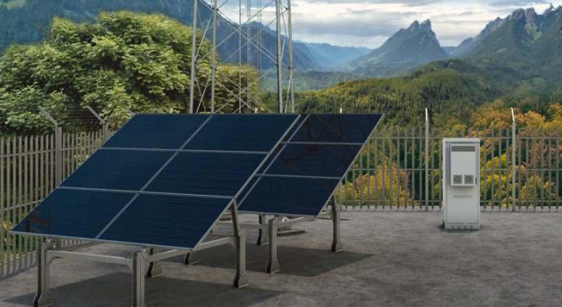 Solarpanele Telekom und Ericsson kooperieren bei der autonomen Energieversorgung von Mobilfunk-Standorten
