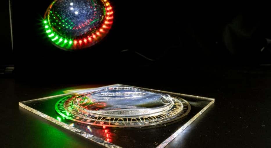 Intelligente Beleuchtungskörper durch maßgeschneiderte Lichtverteilung. Bild: Fraunhofer IOF