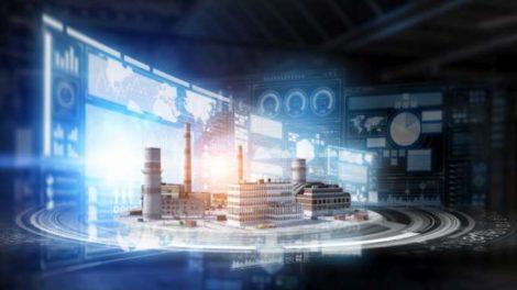 Green Lean Digital Factory: Die Fabrik der Zukunft, illustriert von Sergey Nivens via Adobe Stock