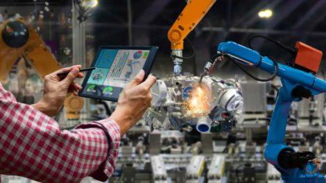 Eine vernetzte Industrie 4.0-Fabrik. Deutschland gerät aufgrund weniger Patentanmeldungen ins Hintertreffen.
