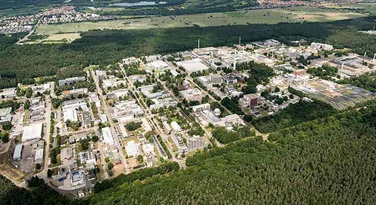 KIT Campus Nord von oben