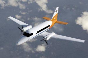Hybridelektrisches 19-Sitzer-Flugzeug von DLR Forschungsprojekt CoCoRe