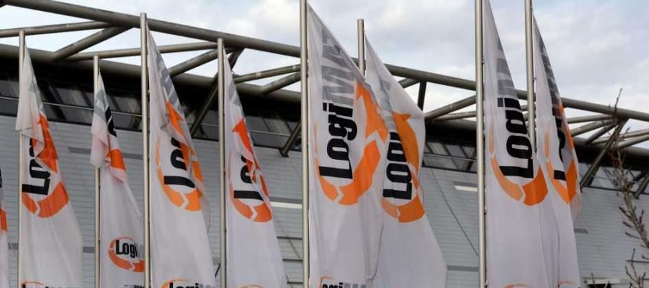 Logimat Flaggen vor der Messe Stuttgart: Die Intralogistikmesse wurde abgesagt.