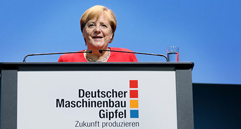 Bundeskanzlerin Merkel auf Maschinenbau-Gipfel 2019