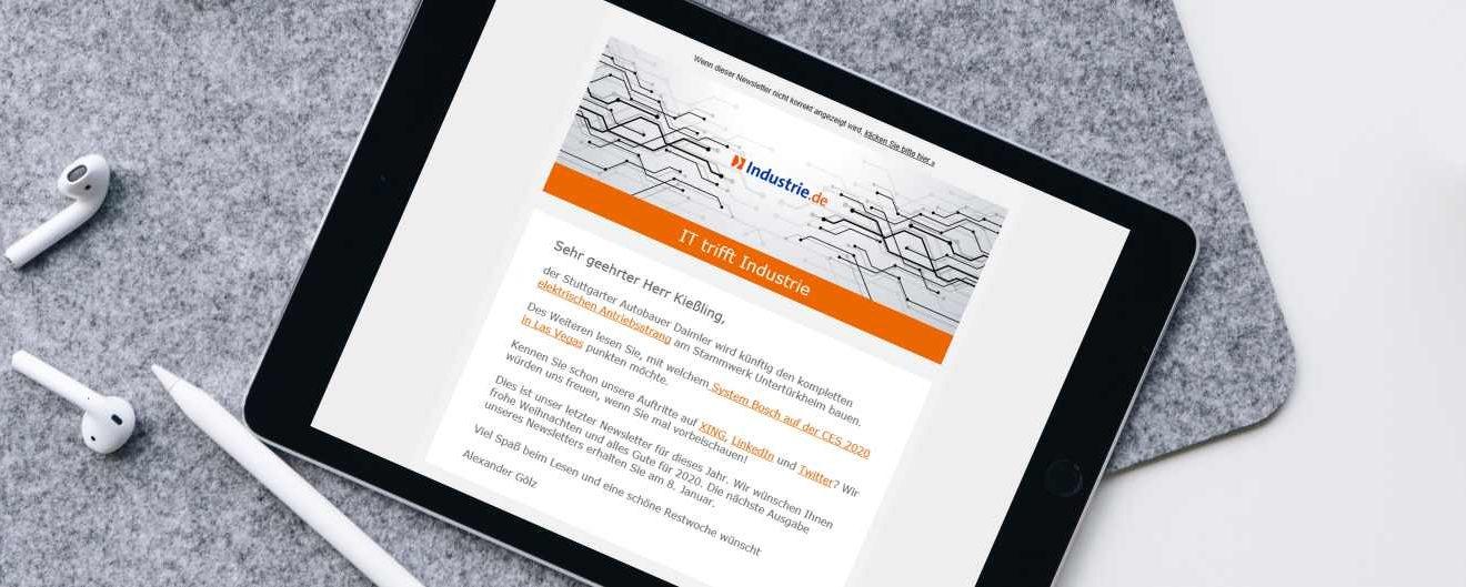 Industrie.de Newsletter Vorschaubild