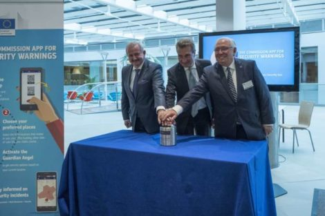 Neugebauer Fraunhofer, Oettinger EU-Kommission, Neuschwander TURM solutions EUWARN