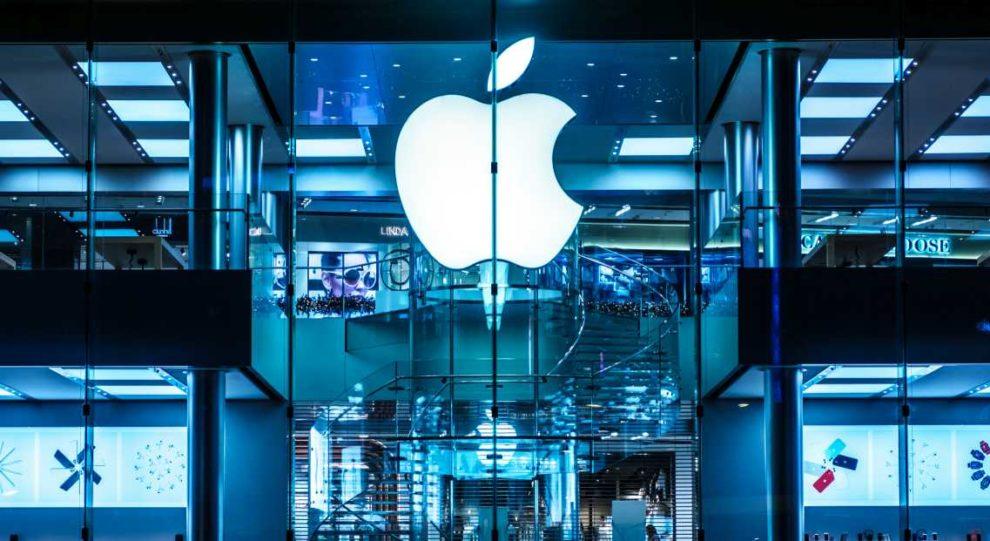 Apple-Logo in Hongkong. Das Unternehmen ist die wertvollste AG der Welt.