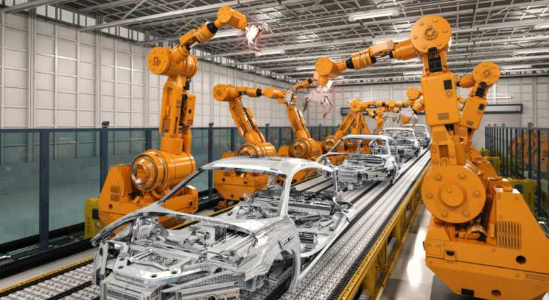 Roboter in eine Autofabrik