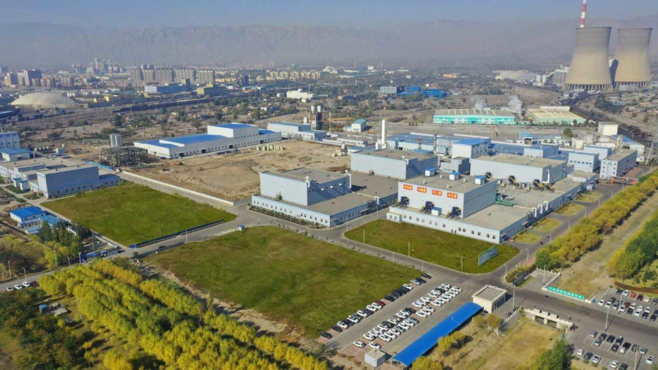 Fabrik Shi Zui Shan in Ningxia, China