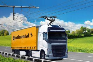 Continental Siemens Mobility Oberleitungen Lkw