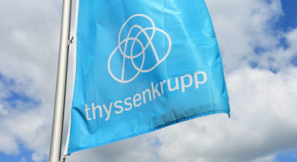 Thyssenkrupp Fahne in Sachsen