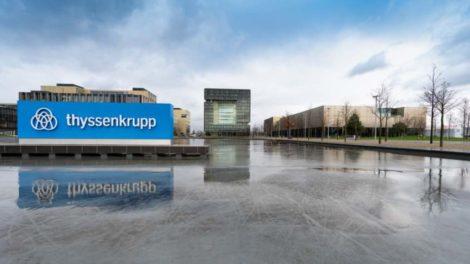 Thyssenkrupp Headquarter in Essen. Der Industriekonzern baut eine Wasserelektrolyse-Anlage in Québec.