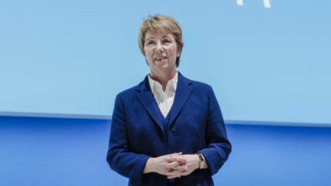 Martina Merz bleibt Vorstandsvorsitzende der Thyssenkrupp AG. Hier während der 21. ordentlichen Hauptversammlung 2020