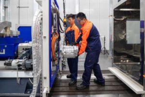 Volvo hat in Shanghai (China) ein neues Labor für Elektromotoren eröffnet