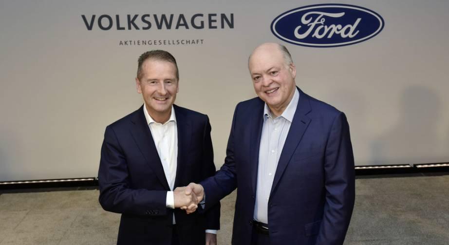 Dr. Herbert Diess (VW), Jim Hackett (Ford).
