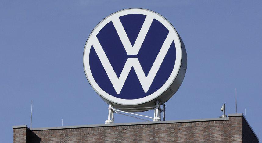 Neues Volkswagen Logo Hausdach VW