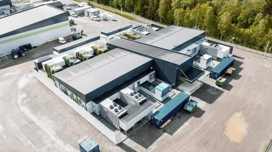 Blick auf das VW-Rechenzentrum in Norwegen